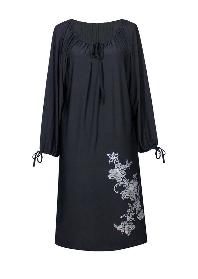Прямое платье с длинным рукавом Ветка