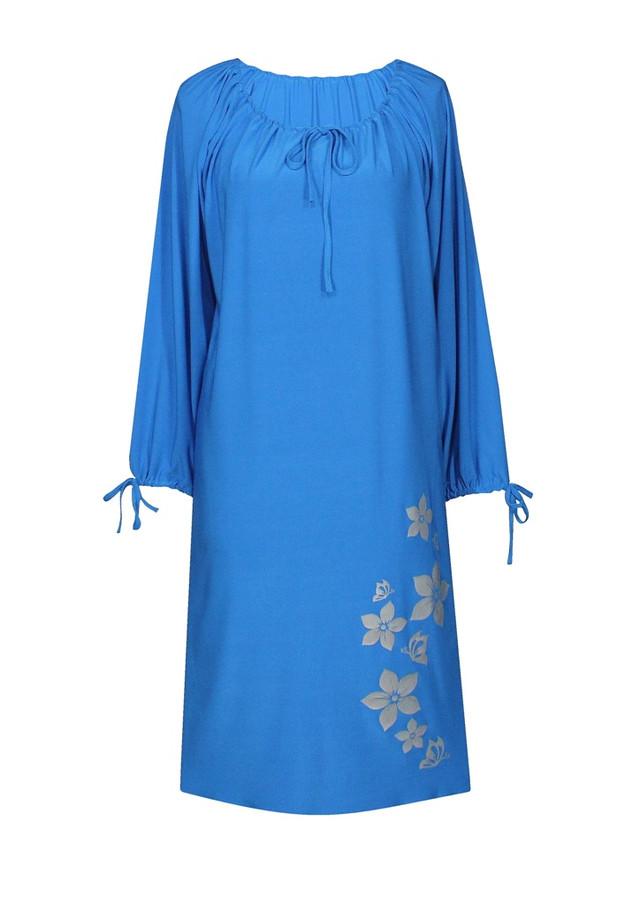 Свободное прямое платье Цветы