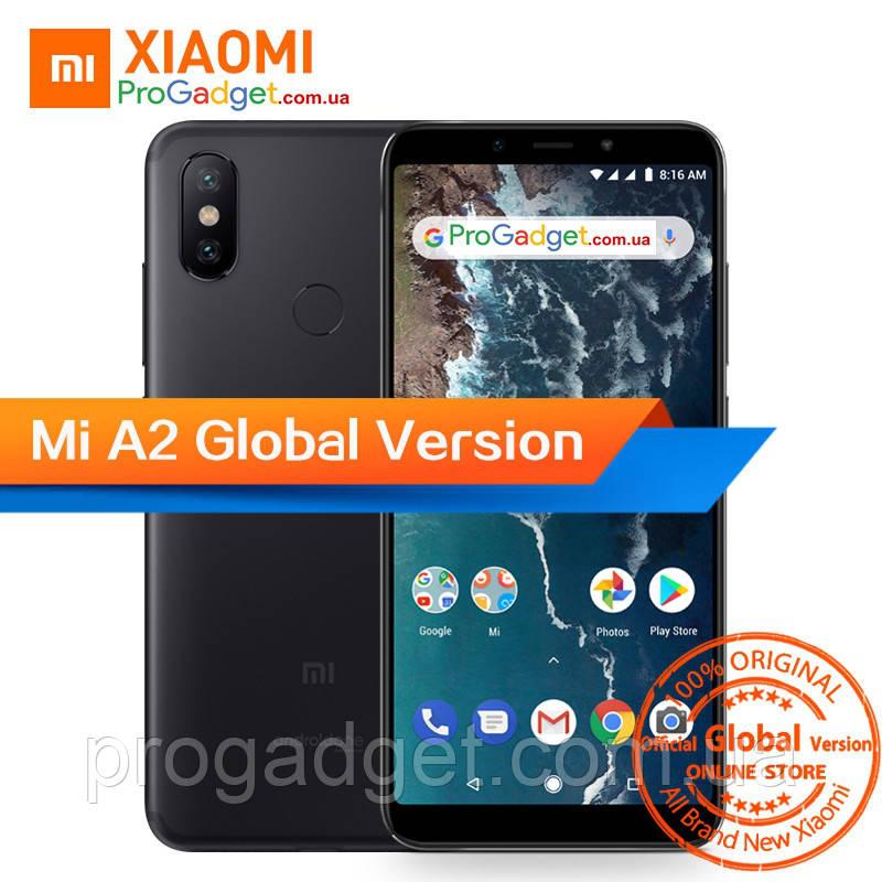 "Xiaomi Mi A2 4/64 black Global Version - черный безрамочный смартфон 5.99"" FHD+, Snapdragon 660 камера 20+12MP"