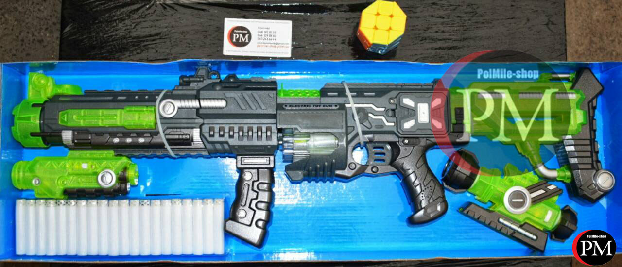 Детский Бластер (аналог Nerf) стреляющий поролоновыми пуля