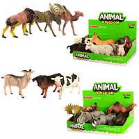Животные 16098BC, от 11см, 2вида(дикие, домашние), 6шт в дисплее, 23-8-14, 5см