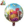 Фольгированные воздушные шары динозавры диаметр 45 см, фото 2