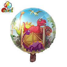 """Фольгований повітряна куля """"Динозаври"""" діаметр 45 див."""