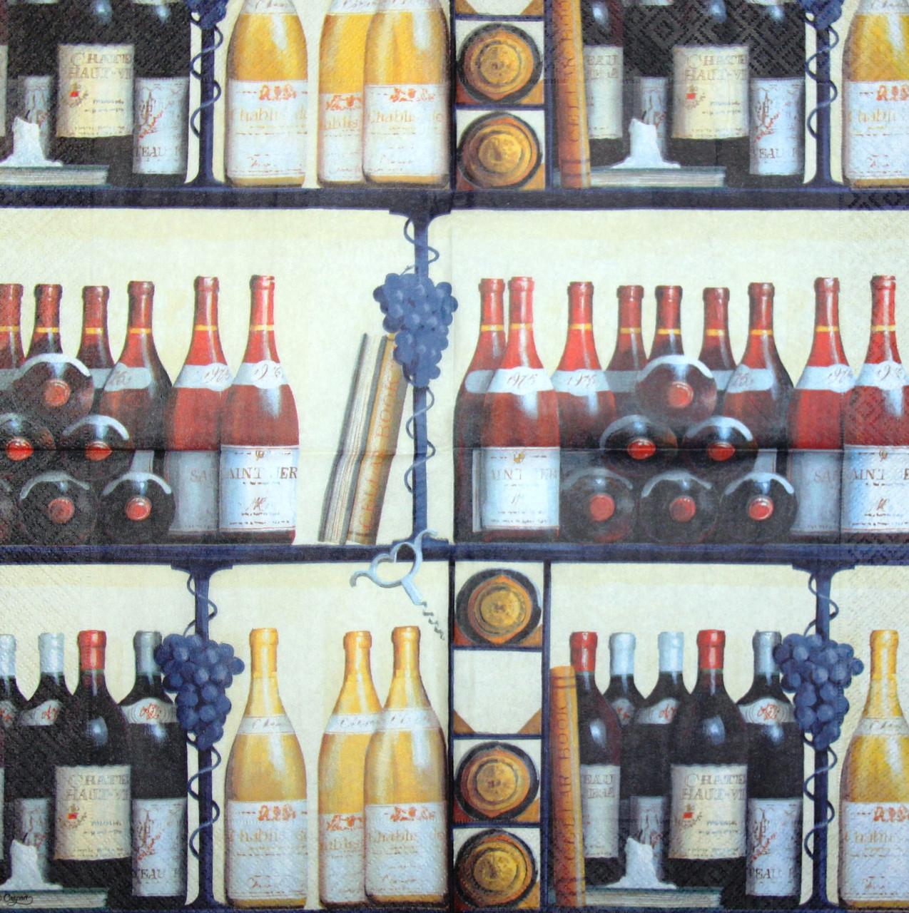 Салфетка для декупажа Вино 7739