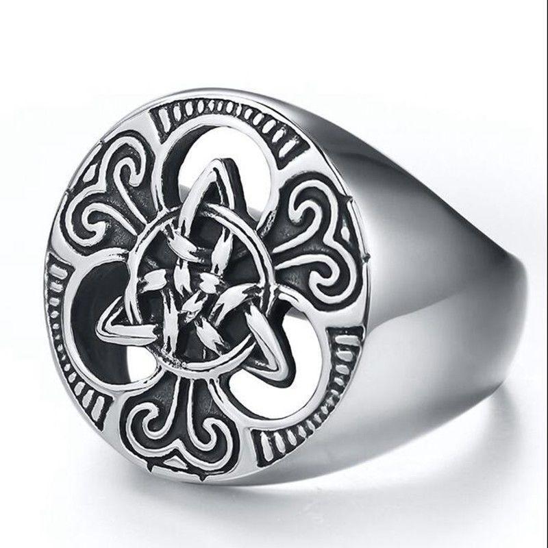 Оригинальное мужское кольцо из нержавеющей стали 22,5-23 размер!