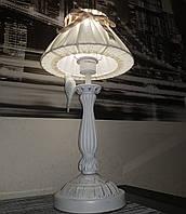 Настольный торшер с серебристой патиной, фото 1
