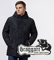 Braggart 'Black Diamond'. Парка мужская со вшитым капюшоном 49720 черный