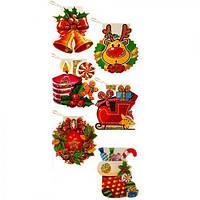 """Открытка-малышка """"Merry Christmas"""" R87346 в наборе 128шт, бумага, открытки, поздравительные открытки, открытки ручной работы"""