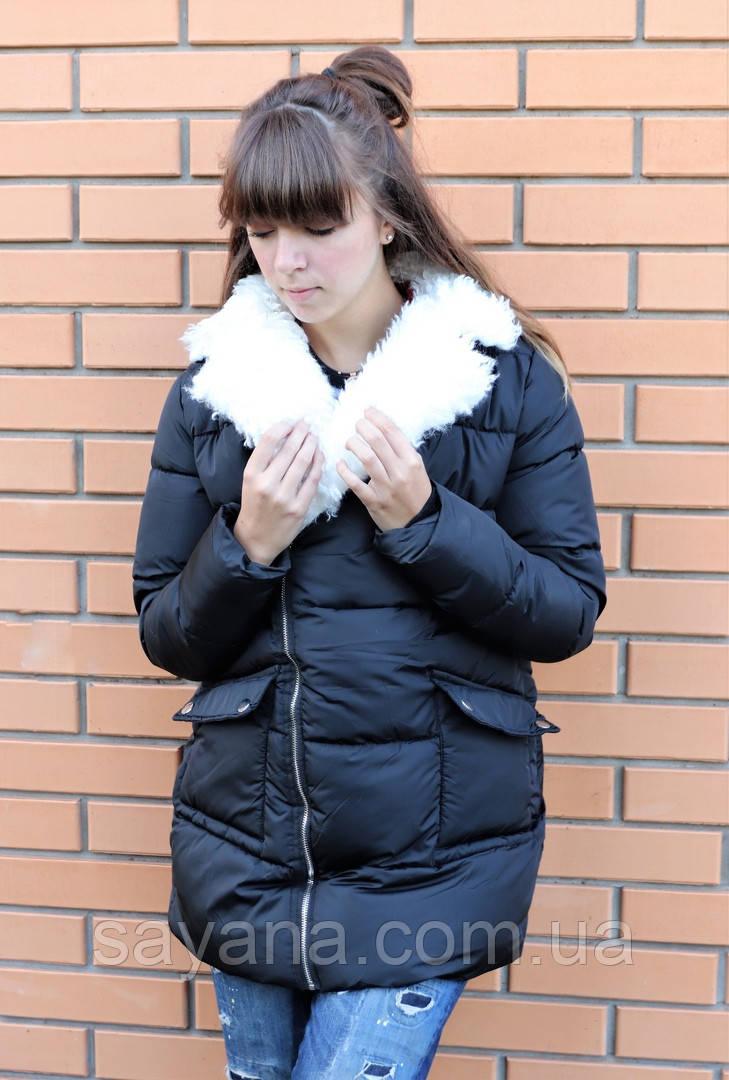 Женская утепленная куртка в расцветках. БР-10-0918