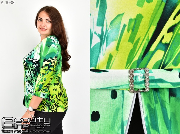 Блуза-кофта женская большого размера Фабрика моды батал р. 50-60