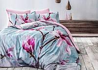 Постельное белье с лилиями Tivolyo Home ORHIDEA PEMBE евро