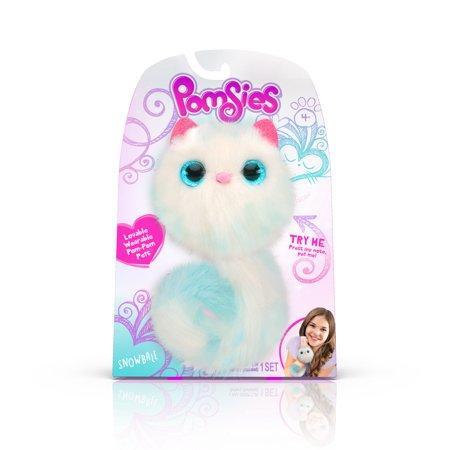 Мягкая игрушка пушистик котенок Помсиз Снежинка Pomsies Pet Snowball