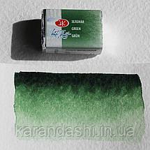 Акварель Белые Ночи Зеленая (725) кювета 2,5мл, фото 3