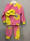 Велюровый костюм с мышкой для девочки, фото 2