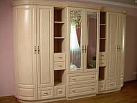 Шкаф-стенка  из массива дерева коллекция «Полесье»