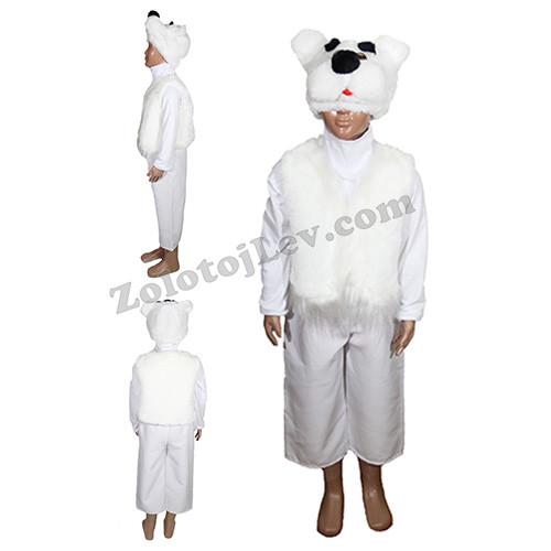 Костюм Медведя белого рост 140
