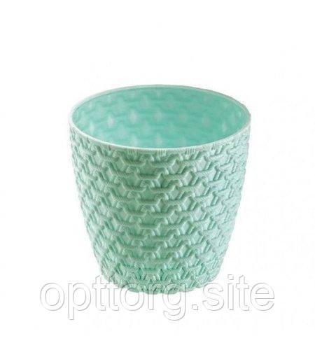 Горшок для цветов Вязка № 2 1,6 л с подставкой Elif Plastik 447