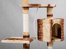 """Когтеточка """"Игровая площадка"""" кремово-коричневый Pethaus, 40x40x105 см, фото 3"""
