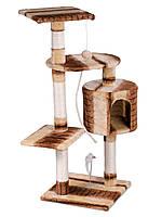 """Когтеточка """"Игровая площадка"""" кремово-коричневый Pethaus, 40x40x105 см"""