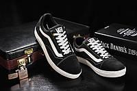 Мужские замшевые черные кеды Vans old skool 118_chern_zamsh(реплика)