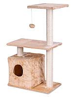 """Когтеточка """"Игровая площадка"""" бежевый Pethaus, 51 x 30x89 см, домик для кота"""