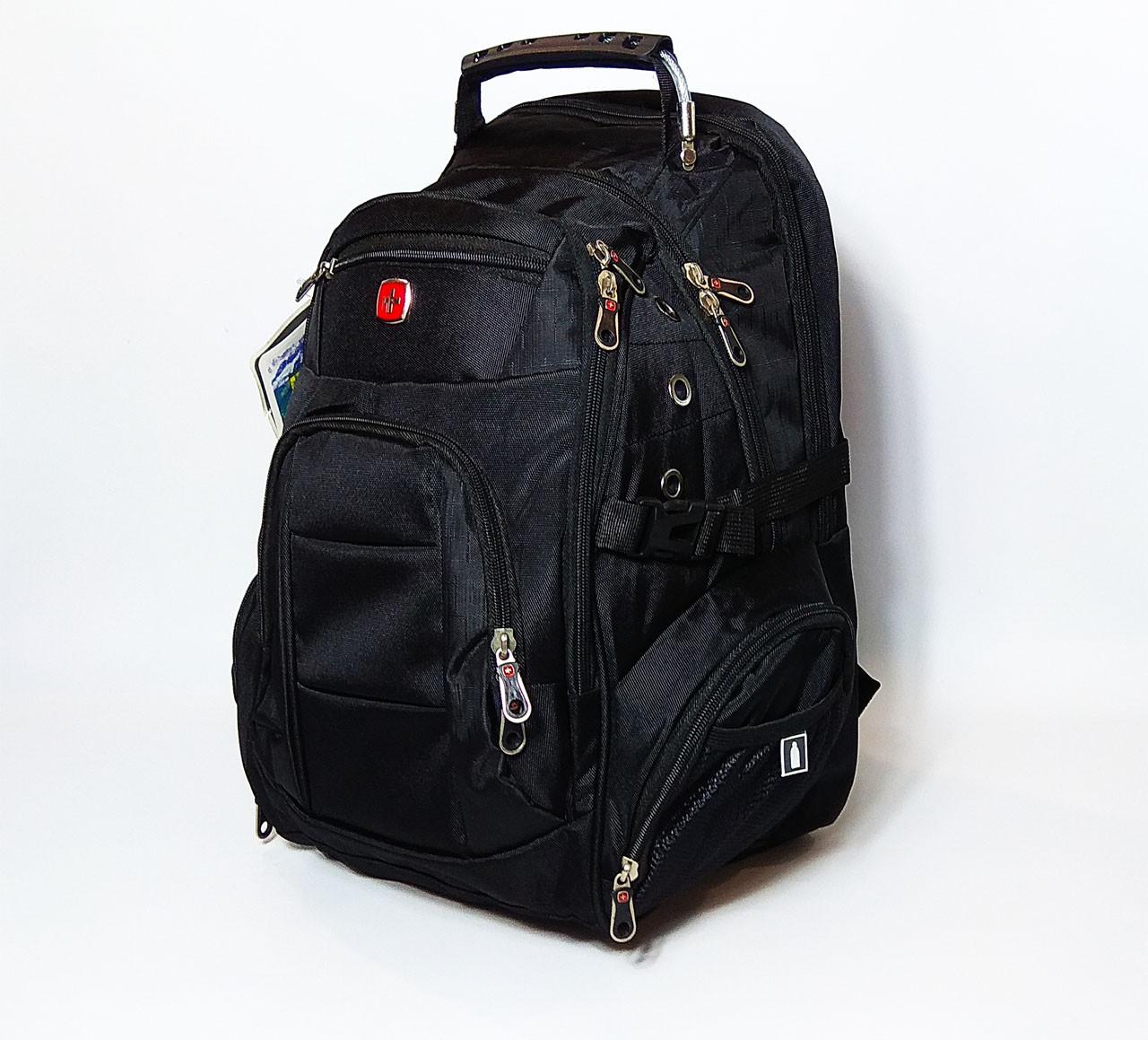 Туристический рюкзак с ортопедической спинкой на 35 литров 7697 black