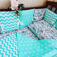 Бортики-защита в детскую кроватку — Веселые котята, фото 1