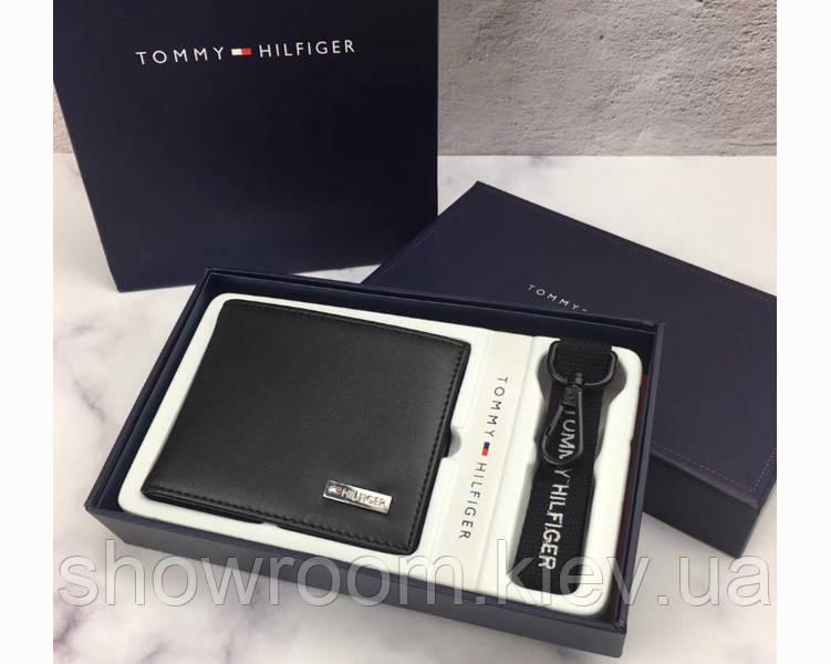 Мужское кожаное портмоне Tommy Hilfiger (044) подарочная упаковка