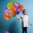Яскраві повітряні кулі динозаври різні кольори 30 див. 10 шт., фото 2