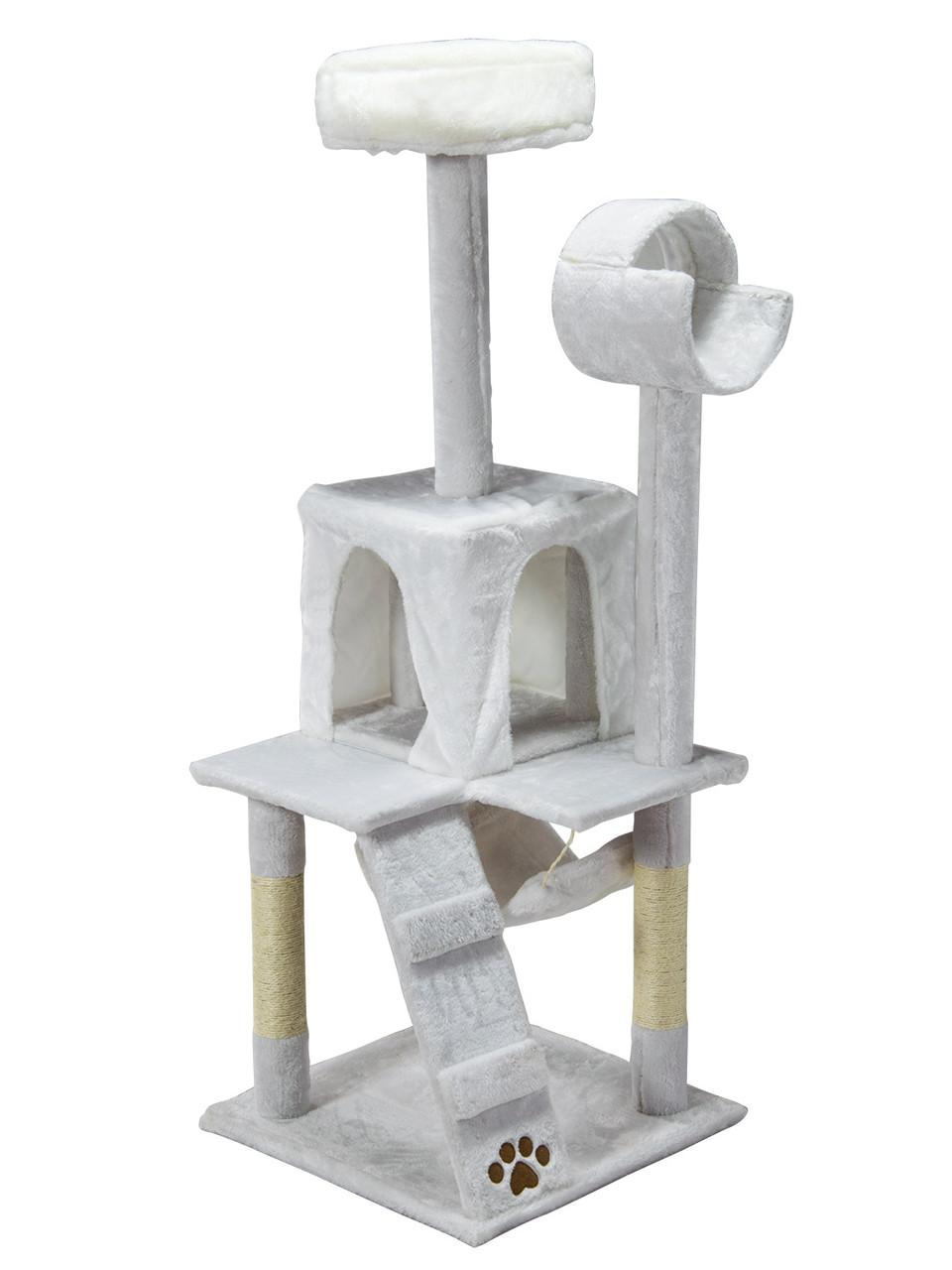 "Когтеточка ""майданчик"" сірий Pethaus, 50 x 50 x 132 см;"