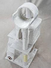 """Когтеточка """"майданчик"""" сірий Pethaus, 50 x 50 x 132 см;, фото 2"""