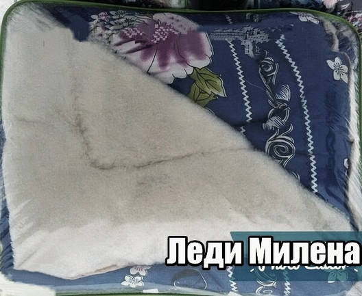 Открытое одеяло овчина полуторное , фото 2