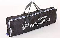 Сетка для волейбола MIKASA C-6889 (PE, с метал. тросом)