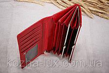 Кошелёк женский кожаный красный Loncome R-2011, фото 2