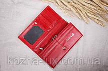 Кошелёк кожаный красный Loncome R-2011, фото 3