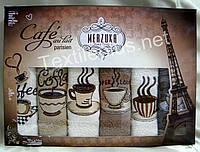 Полотенца махровые кухонные - Merzuka - Paris - 6 шт.-30*50 -100% хлопок-Турция-(kod1636), фото 1