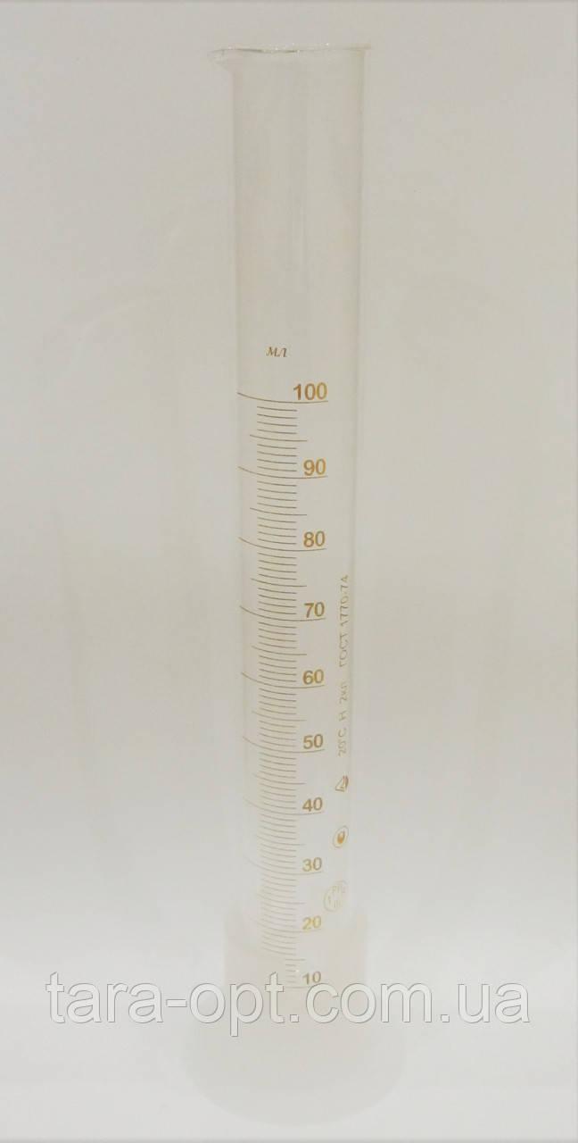 Мірний циліндр на 100 мл скляний, колба (Ціна від 3 грн)