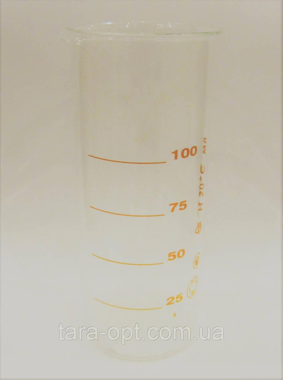 Мерная колба 100 мл стеклянный цилиндр (Цена от 45 грн)