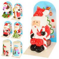"""Свеча """"Дед мороз"""" J01144 парафин, 10.2*6см, свечи, декоративные свечи, свечи, свеча на новый год, декор, интерьерные свечи"""