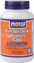 Минеральный Комплекс, Now Foods, Full Spectrum Minerals, 120 Caps