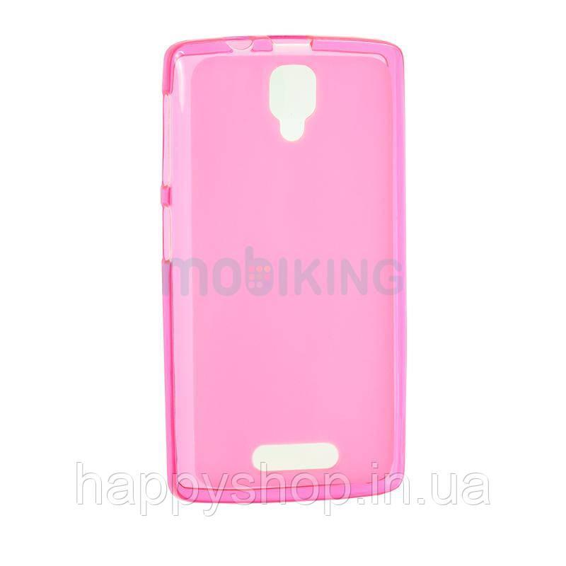 Силиконовый чехол-накладка для Lenovo A536/A368 (Pink)