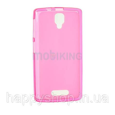 Силиконовый чехол-накладка для Lenovo A536/A368 (Pink), фото 2