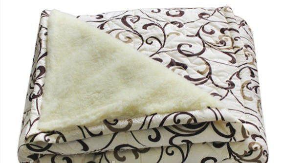 Зимнее двухсторонее одеяло овчина полуторное