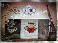 Полотенца махровые кухонные - Merzuka - Paris - 3 шт.-30*50 -100% хлопок-Турция-(kod1660)