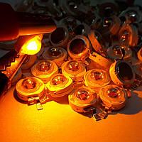 Светодиод желтый 1ватт 2.5вольт