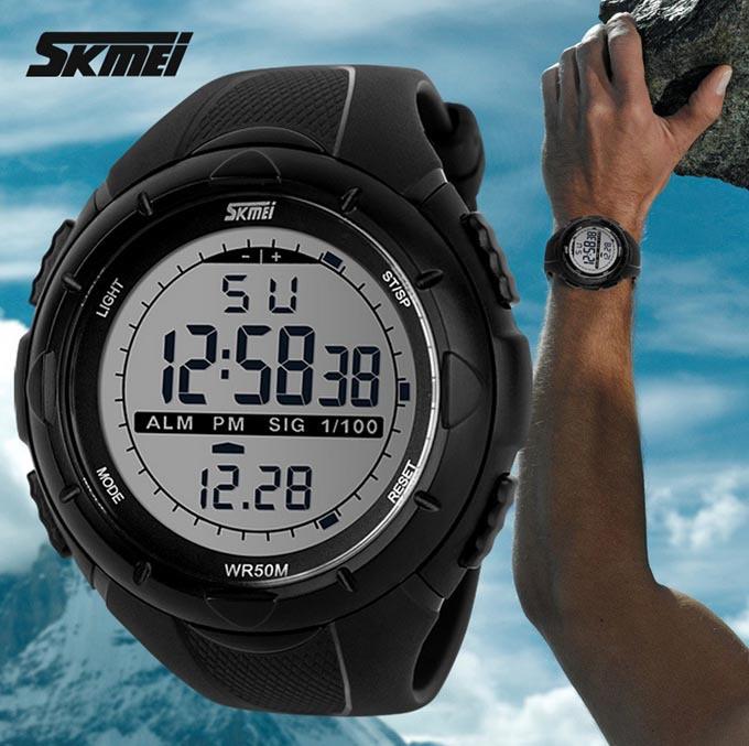 • Оригинал! Skmei(Скмей) 1025 Dive Black | Cпортивные мужские часы !