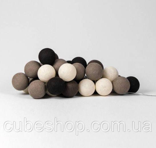 """Тайская LED-гирлянда """"Brown"""" (20 шариков) на батарейках"""
