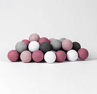 "Тайская LED-гирлянда ""Dirty Rose"" (35 шариков), фото 1"