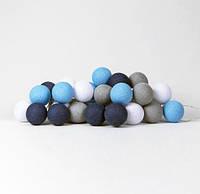 "Тайская LED-гирлянда ""Sailor blue"" (20 шариков) на батарейках, фото 1"