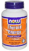 Тироид Энерджи, Энергия щитовидной железы, Now Foods, Thyroid Energy, 90 Veggie Caps